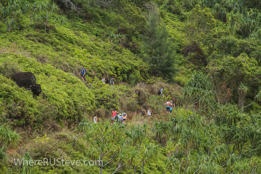 Switchbacks are a common sight on this trail.