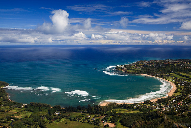 Hanalei, Kauai - The large bay is the central focus for the North Shore