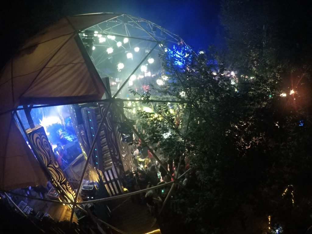 The view as Z Trip takes the stage at the Village in 2017