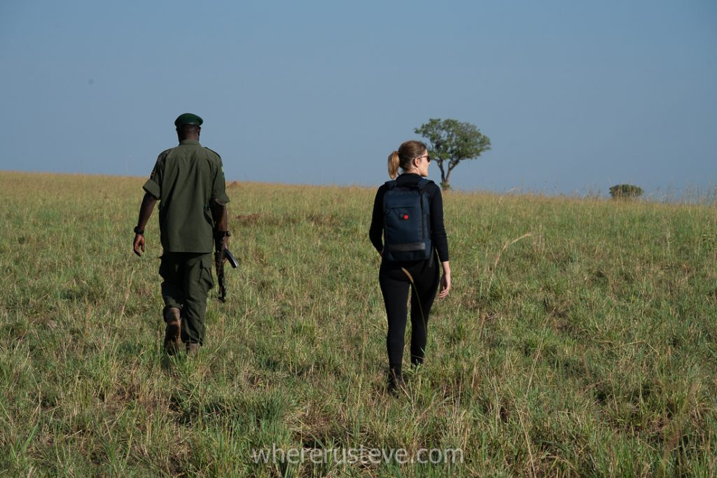 A guided walking tour in Kidepo park